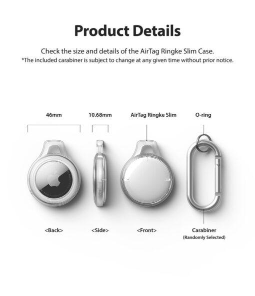 Airtag umbris Rinkge Airtag Slim Case Set 4x votmehoijda karabiiniga labipaistev 7