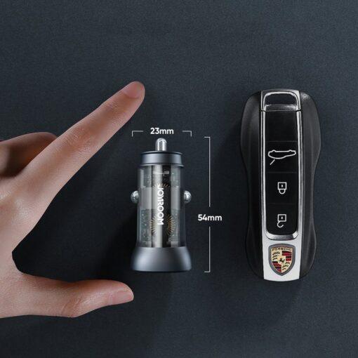 Autolaadija adapter sigaretisuutajasse USB C ja USB 38W 3A QC 3.0 PD AFC SCP 7