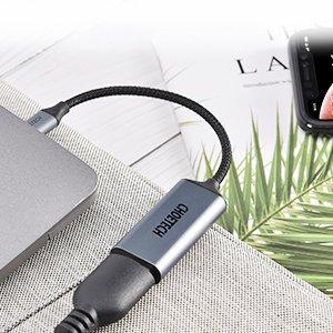 Choetech USB C to HDMI uleminek Coaxial 0.2m hall 4