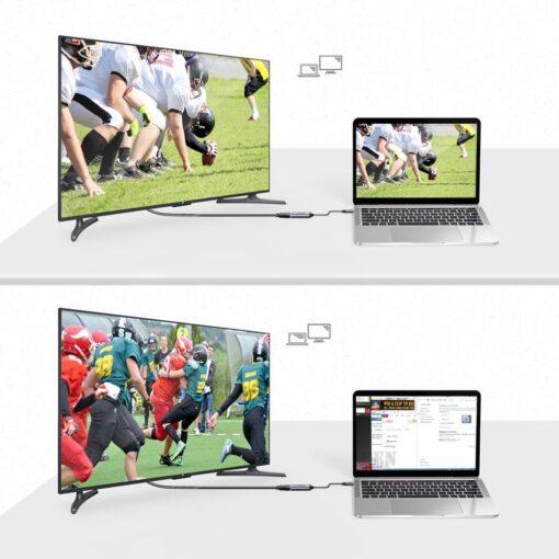 Choetech USB C to HDMI uleminek Coaxial 0.2m hall 6