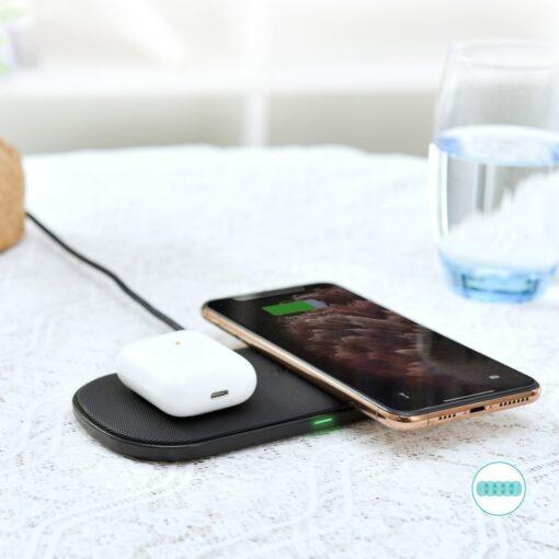 Juhtmevaba 2in1 Qi laadija telefonile ja Airpodsidele 10W 1