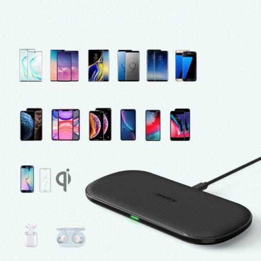 Juhtmevaba 2in1 Qi laadija telefonile ja Airpodsidele 10W 2