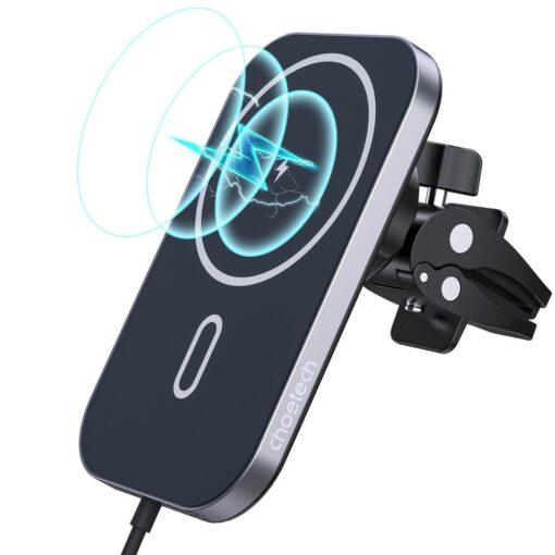Juhtmevaba MagSafe autohoidik koos autolaadijaga 15W Choetech iPhonele must 1