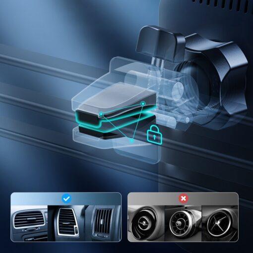 Juhtmevaba MagSafe autohoidik koos autolaadijaga 15W Choetech iPhonele must 6