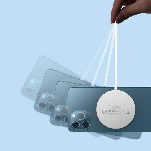Juhtmevaba laadija koos alusega MagSafe 15W Choetech iPhonele hobe 3