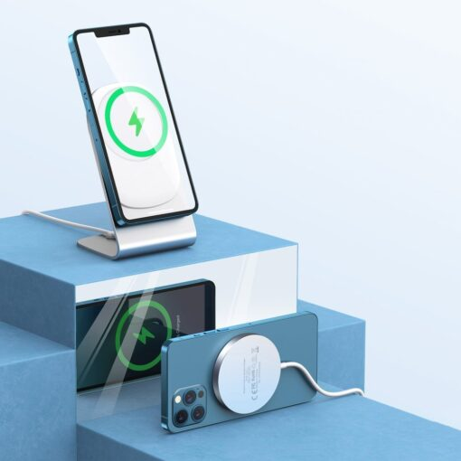 Juhtmevaba laadija koos alusega MagSafe 15W Choetech iPhonele hobe 4