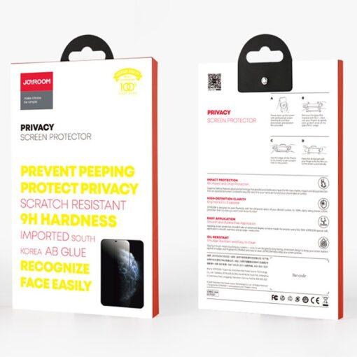 iPhone 12 Pro Max privaatsusfiltriga kaitseklaas Joyroom Knight 4