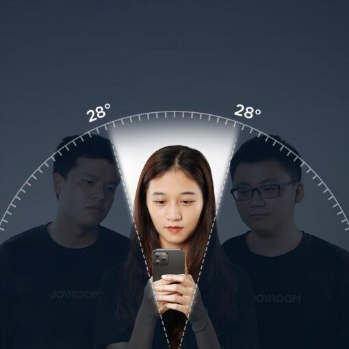 iPhone 12 Pro Max privaatsusfiltriga kaitseklaas Joyroom Knight 7