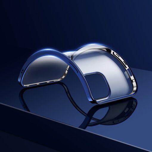 iPhone 12 Pro Max silikoonist umbris laikivate servadega Joyroom sinine 11