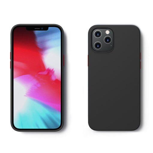 iPhone 12 ja 12 PRO silikoonist umbris Joyroom Color Series must 1