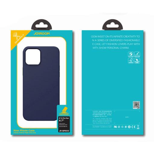 iPhone 12 ja 12 PRO silikoonist umbris Joyroom Color Series must 4 1