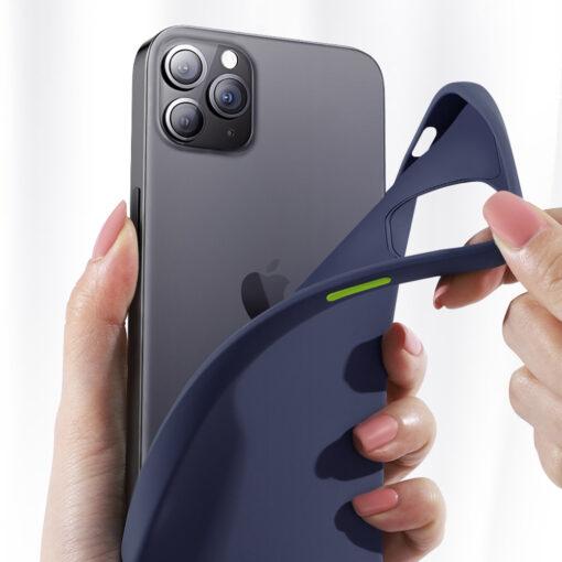 iPhone 12 ja 12 PRO silikoonist umbris Joyroom Color Series must 5 1