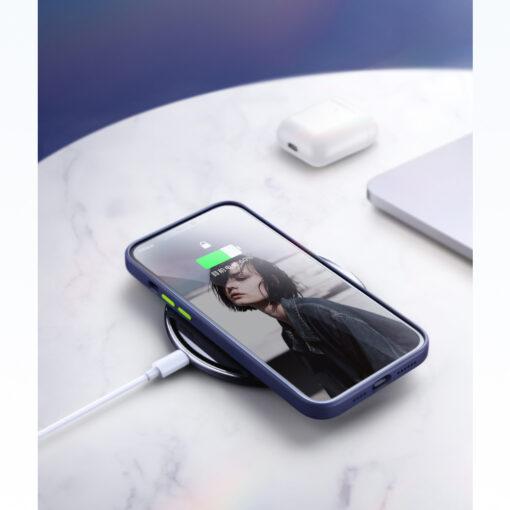 iPhone 12 ja 12 PRO silikoonist umbris Joyroom Color Series must 9 1