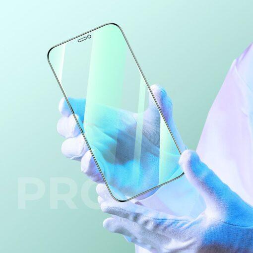 iPhone 12 ja 12 Pro kaitseklaas sinise valguse kaitsega Anti Blue light Joyroom 3