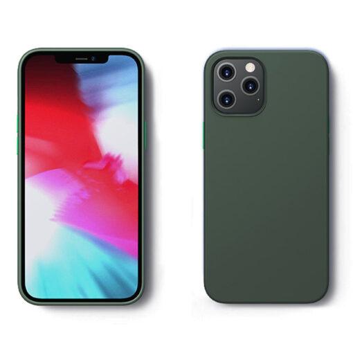 iPhone 12 ja 12 Pro silikoonist umbris Joyroom Color Series roheline 1