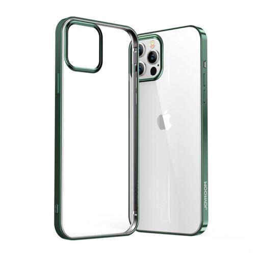iPhone 12 ja 12 Pro silikoonist umbris laikivate servadega Joyroom roheline