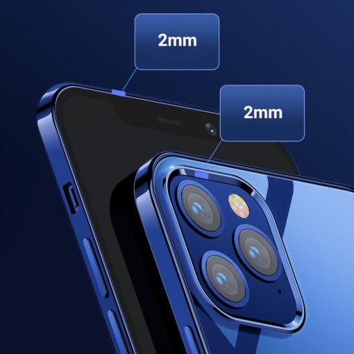 iPhone 12 ja 12 Pro silikoonist umbris laikivate servadega Joyroom sinine 10