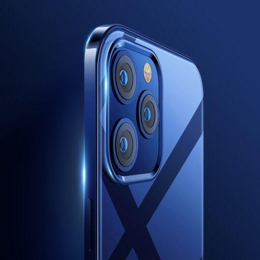 iPhone 12 ja 12 Pro silikoonist umbris laikivate servadega Joyroom sinine 2