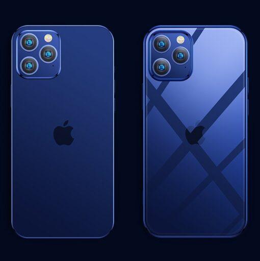 iPhone 12 ja 12 Pro silikoonist umbris laikivate servadega Joyroom sinine 3