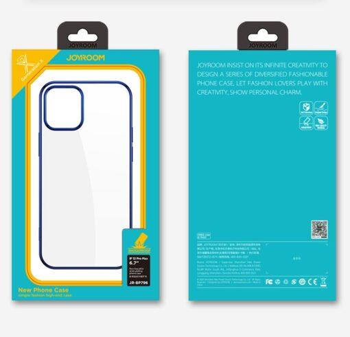 iPhone 12 ja 12 Pro silikoonist umbris laikivate servadega Joyroom sinine 4
