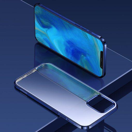 iPhone 12 ja 12 Pro silikoonist umbris laikivate servadega Joyroom sinine 5