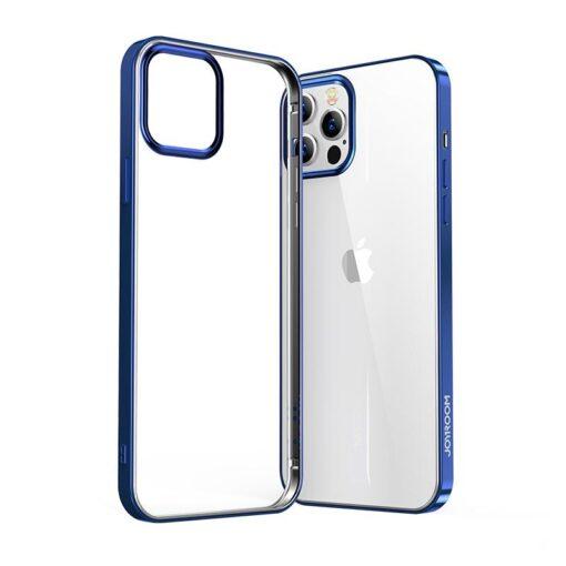 iPhone 12 ja 12 Pro silikoonist umbris laikivate servadega Joyroom sinine