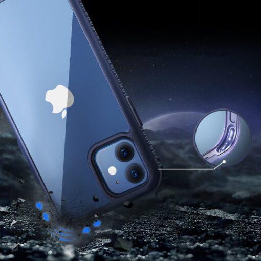 iPhone 12 ja 12 Pro umbris tugevdatud nurkadega Joyroom Frigate sinine 1