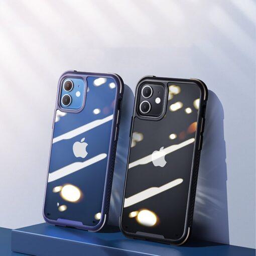 iPhone 12 ja 12 Pro umbris tugevdatud nurkadega Joyroom Frigate sinine 10
