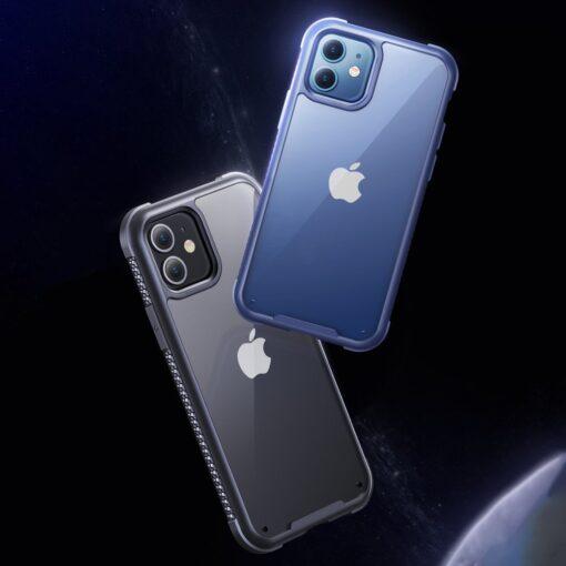 iPhone 12 ja 12 Pro umbris tugevdatud nurkadega Joyroom Frigate sinine 2