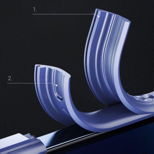 iPhone 12 ja 12 Pro umbris tugevdatud nurkadega Joyroom Frigate sinine 3
