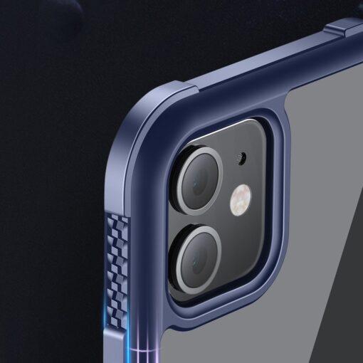 iPhone 12 ja 12 Pro umbris tugevdatud nurkadega Joyroom Frigate sinine 6
