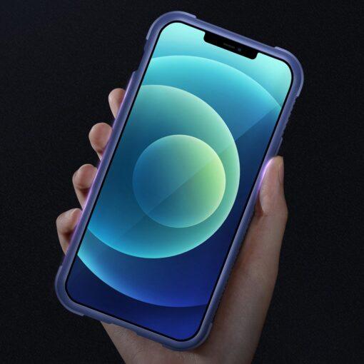 iPhone 12 ja 12 Pro umbris tugevdatud nurkadega Joyroom Frigate sinine 7