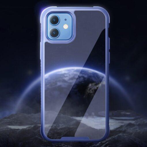 iPhone 12 ja 12 Pro umbris tugevdatud nurkadega Joyroom Frigate sinine 8