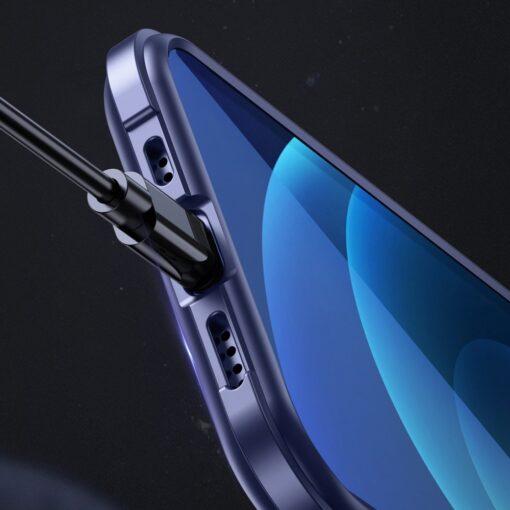 iPhone 12 ja 12 Pro umbris tugevdatud nurkadega Joyroom Frigate sinine 9