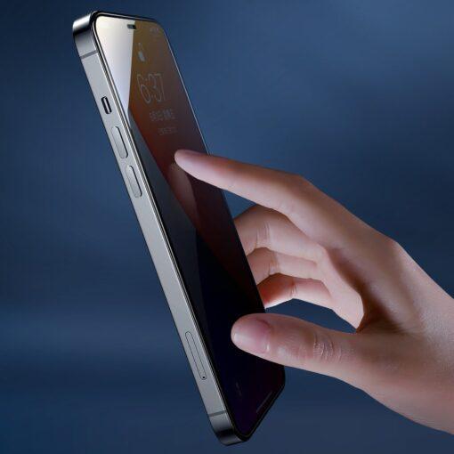 iPhone 12 mini privaatsusfiltriga kaitseklaas Joyroom Knight 10