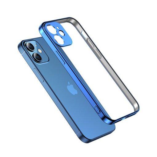iPhone 12 mini silikoonist umbris laikivate servadega Joyroom New Beauty sinine 1
