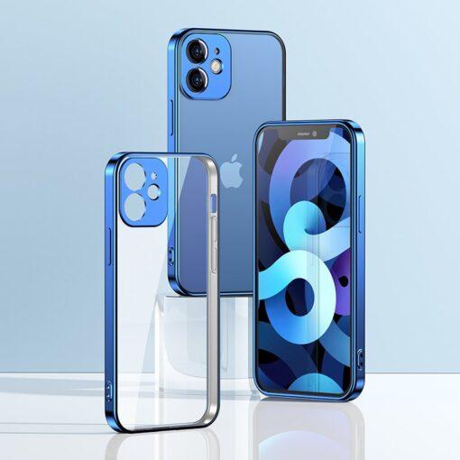 iPhone 12 mini silikoonist umbris laikivate servadega Joyroom New Beauty sinine 5