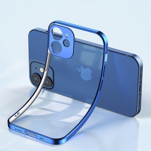 iPhone 12 mini silikoonist umbris laikivate servadega Joyroom New Beauty sinine 6