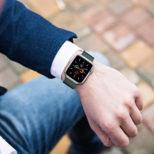 Kellarihm Milaneseband Apple Watch SE654 4244mm Silver 1