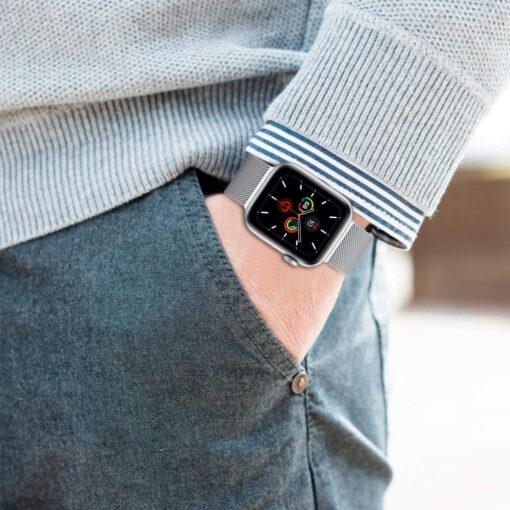 Kellarihm Milaneseband Apple Watch SE654 4244mm Silver 4
