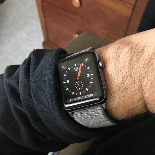 Kellarihm Nylon Apple Watch SE654 4244mm Dark Olive 4