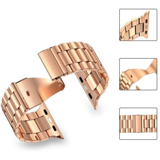 Kellarihm Stainless Apple Watch SE654 4244mm Rose Gold 1