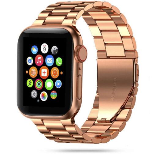 Kellarihm Stainless Apple Watch SE654 4244mm Rose Gold