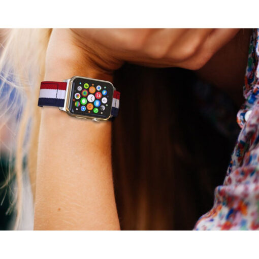 Kellarihm Welling Apple Watch SE654 4244mm Navyred 4