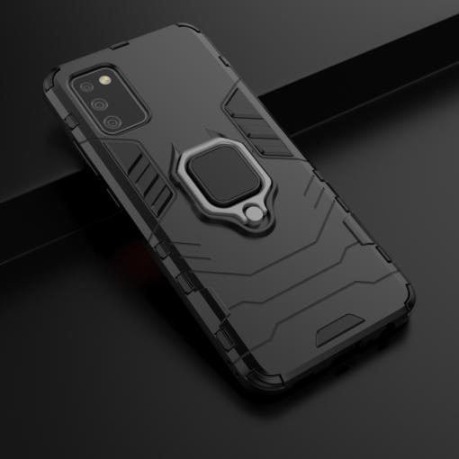 Samsung A02s kaaned Ring Armor plastikust must 6