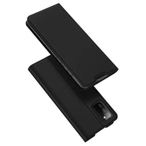 Samsung A02s kunstnahast kaaned DUX DUCIS Skin Pro Bookcase must