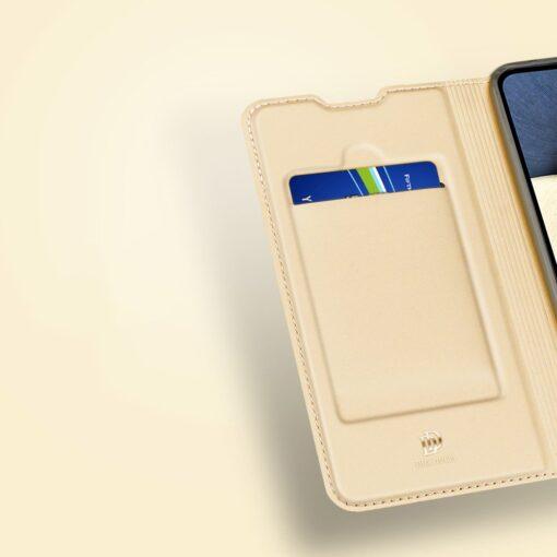 Samsung A02s kunstnahast kaaned DUX DUCIS Skin Pro Bookcase roosa 12