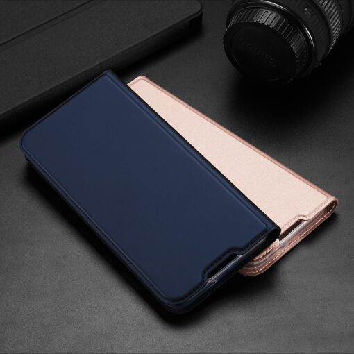 Samsung A02s kunstnahast kaaned DUX DUCIS Skin Pro Bookcase roosa 17
