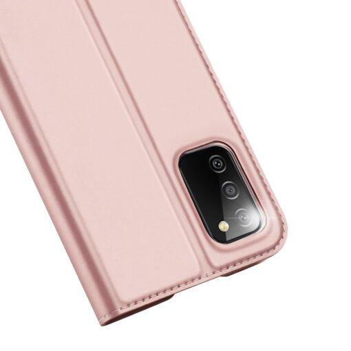Samsung A02s kunstnahast kaaned DUX DUCIS Skin Pro Bookcase roosa 2