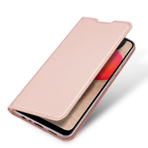 Samsung A02s kunstnahast kaaned DUX DUCIS Skin Pro Bookcase roosa 3